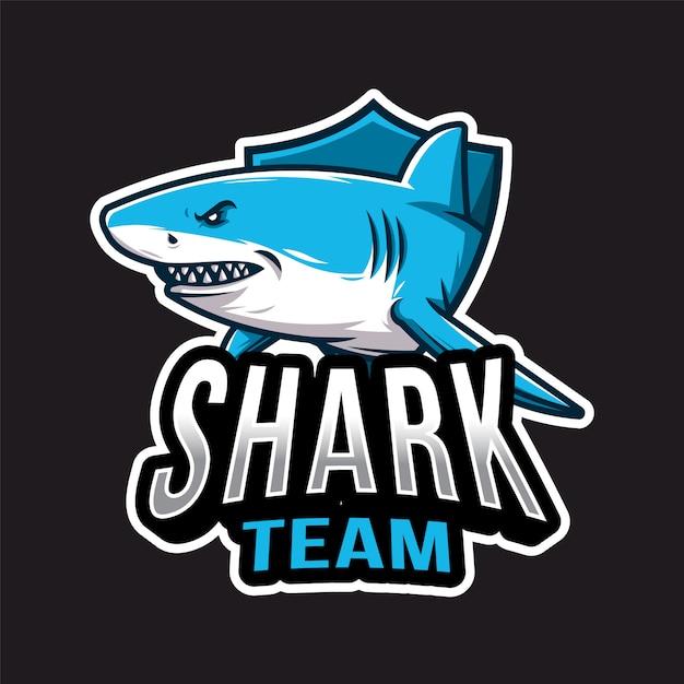 Logotipo de shark esport Vector Premium