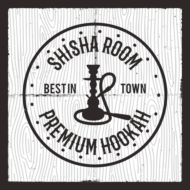 Logotipo de silueta de shisha. Vector Premium
