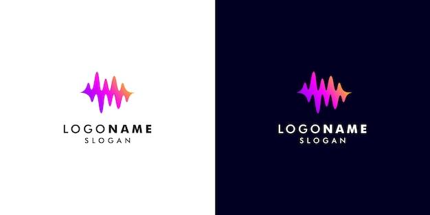 Logotipo de soundwave Vector Premium