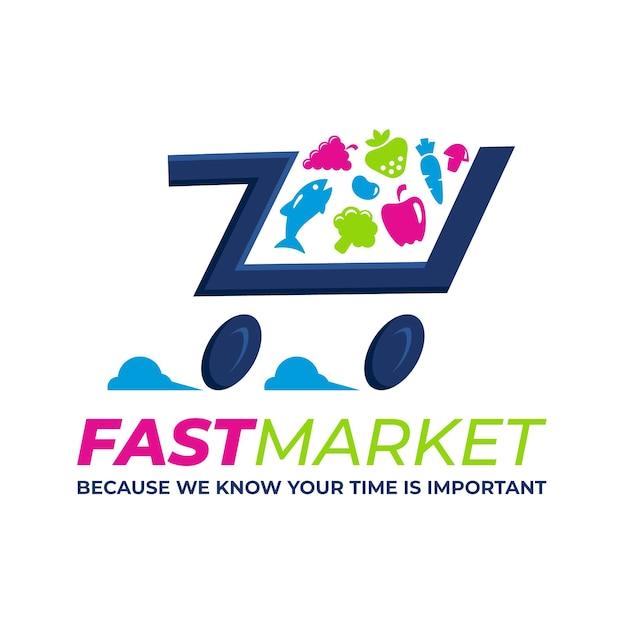 Logotipo de supermercado vector gratuito