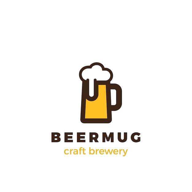 Logotipo de la taza de cerveza. vector gratuito