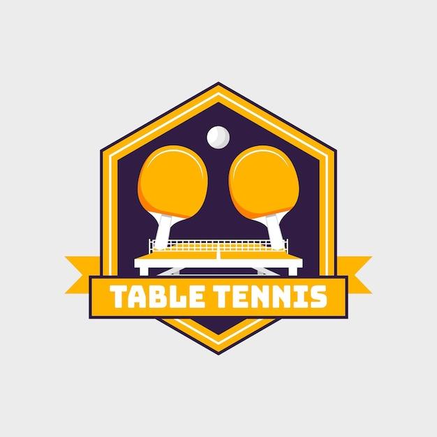 Logotipo de tenis de mesa de estilo detallado vector gratuito