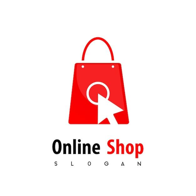 Logotipo de la tienda en línea Vector Premium