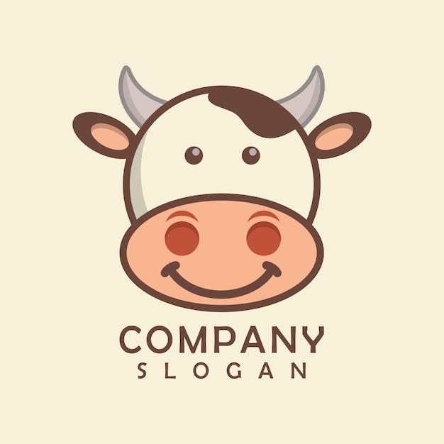 Logotipo de la vaca Vector Premium
