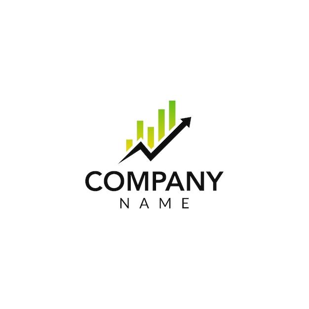 Logotipo de vector financiero Vector Premium