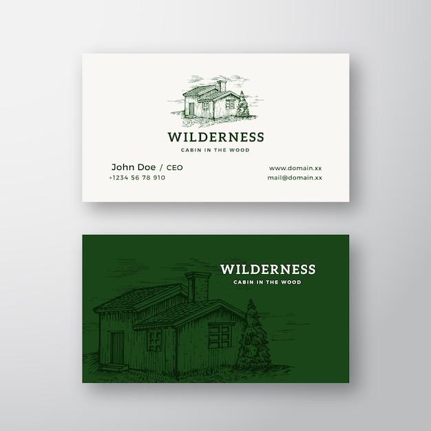 Logotipo vintage abstracto de madera salvaje vector gratuito