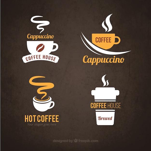 Logotipos de café vector gratuito