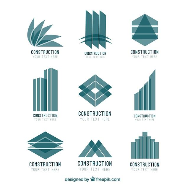 Logotipos construcci n abstracta descargar vectores gratis - Empresas de materiales de construccion ...
