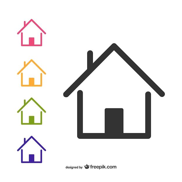 Casas en vectores imagui for Casa logo