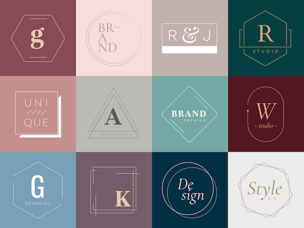 Logotipos y distintivos vector gratuito