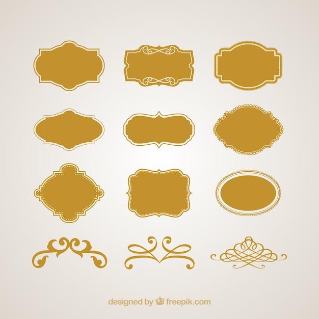 Logotipos marcos vintage y signos conjunto de vectores | Descargar ...