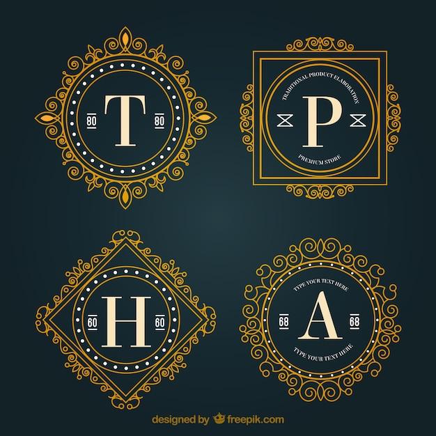 Logotipos oranamentales con letras descargar vectores gratis for Logos con letras