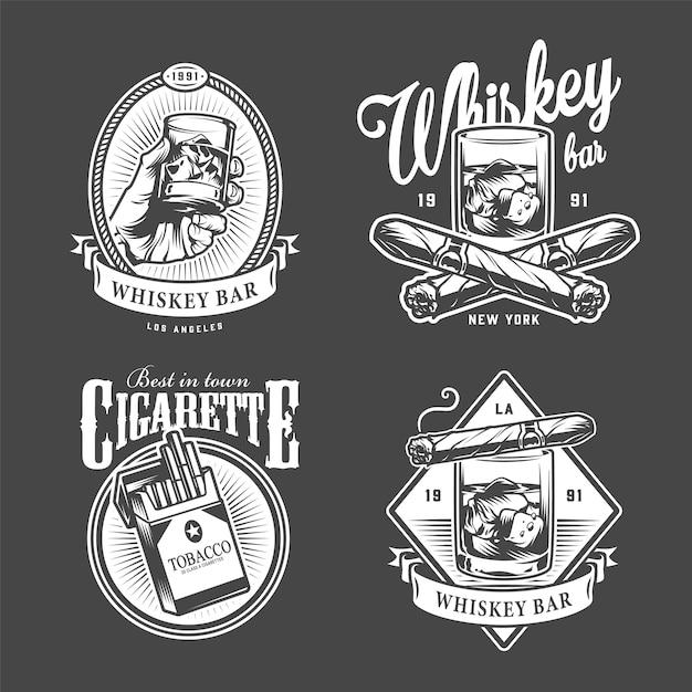 Logotipos vintage de club de hombres vector gratuito