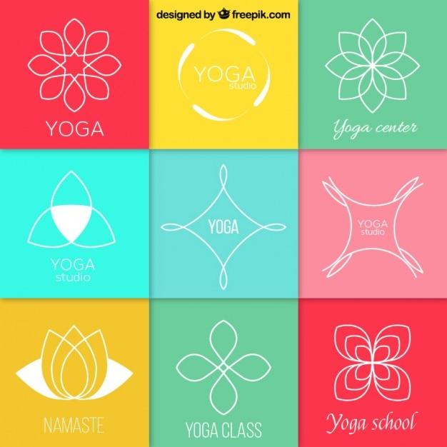 Logotipos yoga abstractos  a920d40f17cb