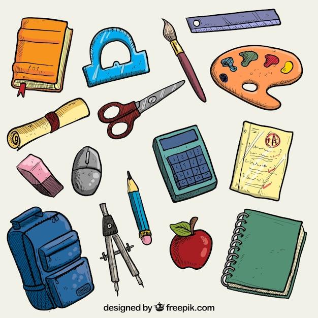 Los útiles escolares | Descargar Vectores Premium