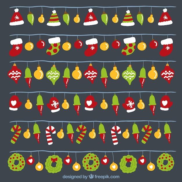Luces coloridas con objetos decorativos de navidad - Decorativos de navidad ...