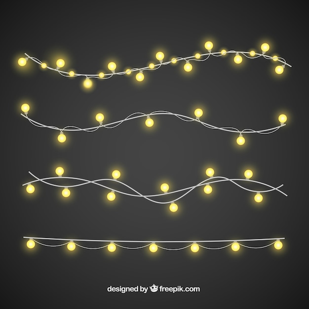 Luces de navidad con estilo elegante descargar vectores - Luces para navidad ...