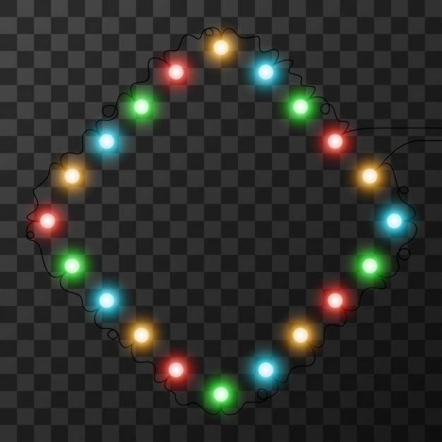 Luces de navidad aisladas sobre fondo transparente Vector Premium