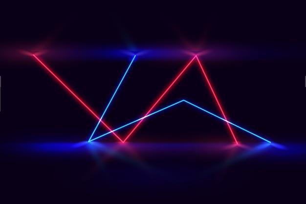Luces de neón de estilo de fondo vector gratuito