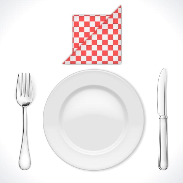 Lugar de cena aislado vector gratuito