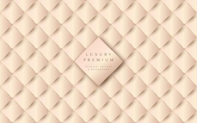 Lujosa textura de cuero beige y fondo transparente Vector Premium