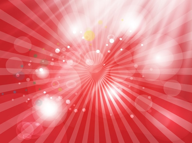 Luminoso burbujas roja luz de fondo Vector Gratis