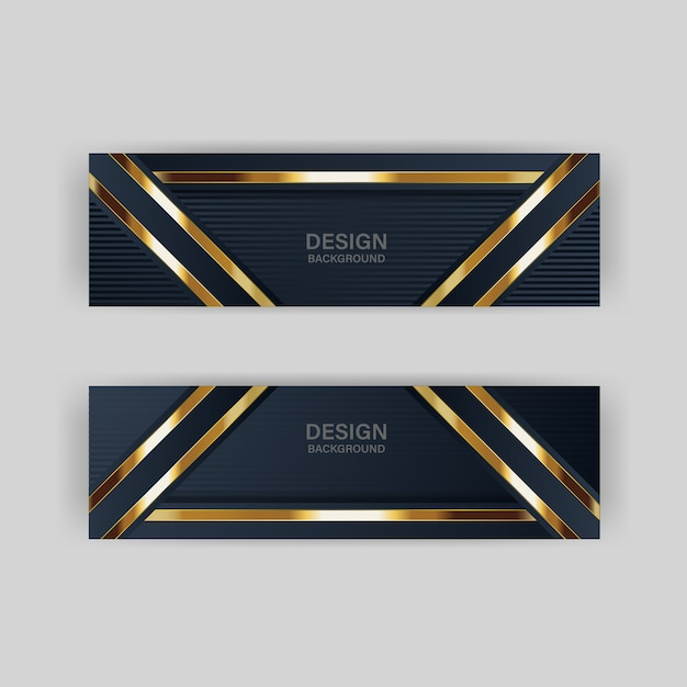 Luz de brillo con color abstracto banner de tecnología moderna oro Vector Premium