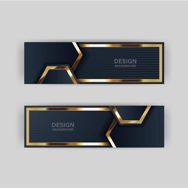 Luz de fondo de brillo con color abstracto tecnología moderna banner oro Vector Premium
