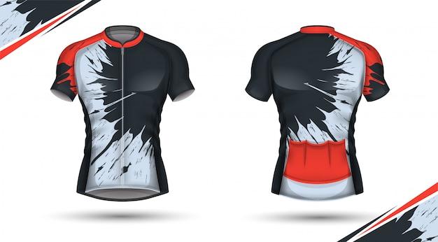 Maillot ciclista delantero y trasero Vector Premium