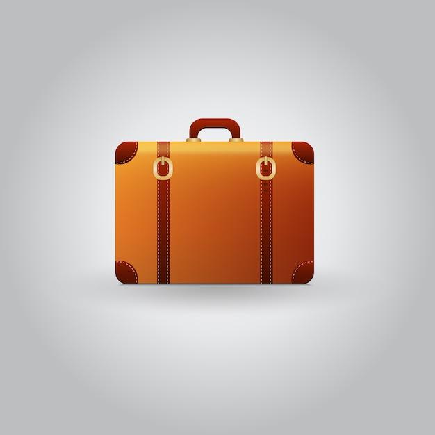 154688985 Maleta de viaje vintage vector aislado sobre fondo gris | Descargar ...