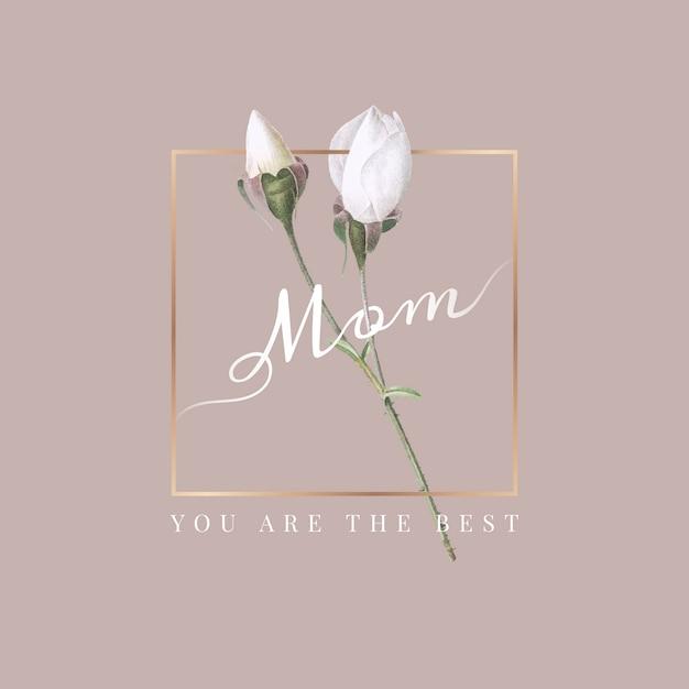 Mamá eres la mejor vector gratuito