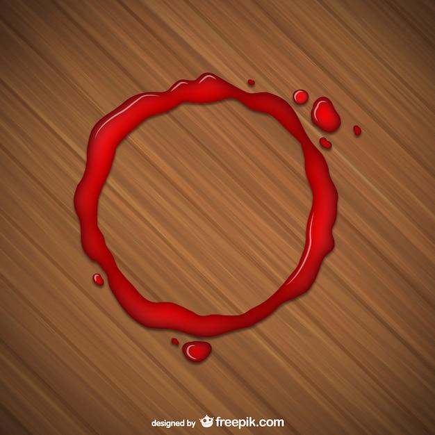 Mancha roja de vaso vector gratuito