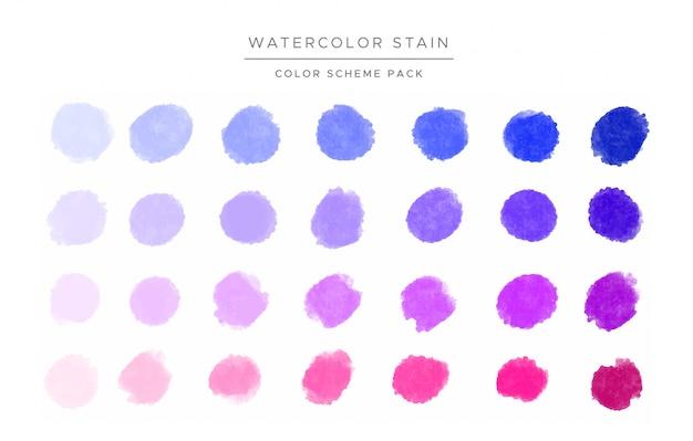Manchas de acuarela de colores vector gratuito