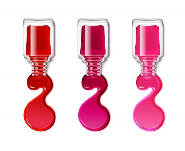 Manchas de esmalte de uñas vector gratuito