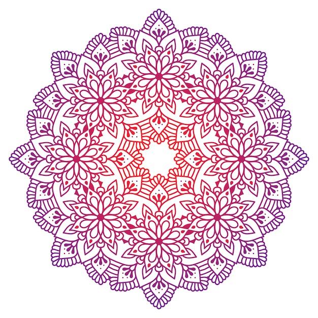 Mandala de adorno oriental vector gratuito