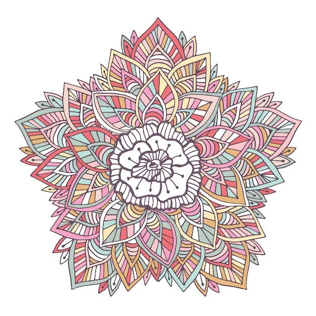 Mandala de vector colorido ornamento para colorear - Pagina de decoracion ...