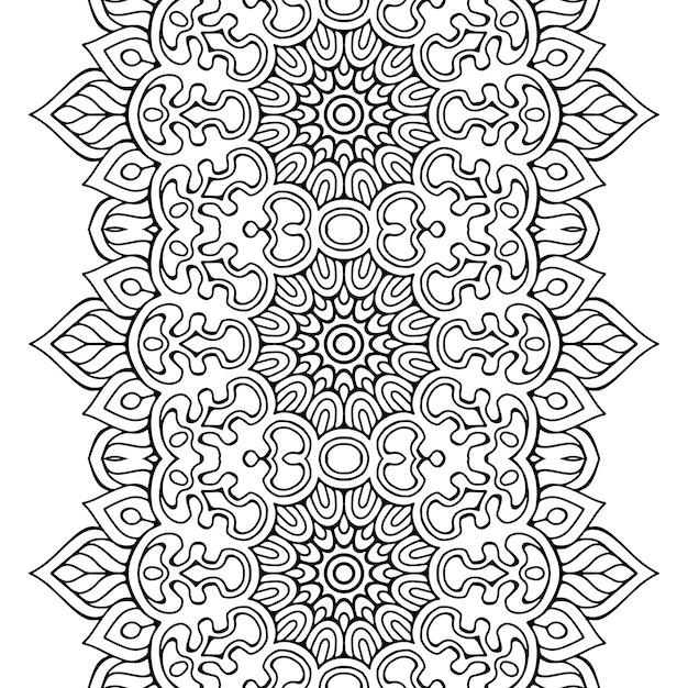 Mandala elementos decorativos étnicos Vector Premium
