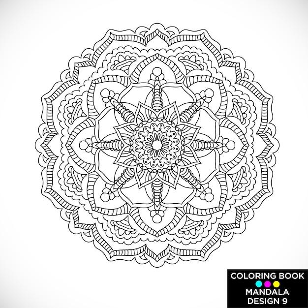 Mandala étnico Blanco Y Negro Para Libro De Colorear Descargar