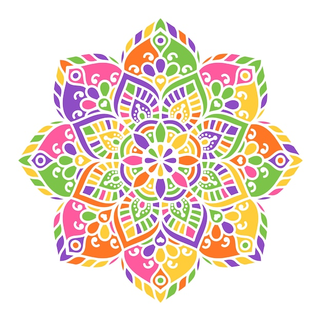 Mandala indio vector gratuito
