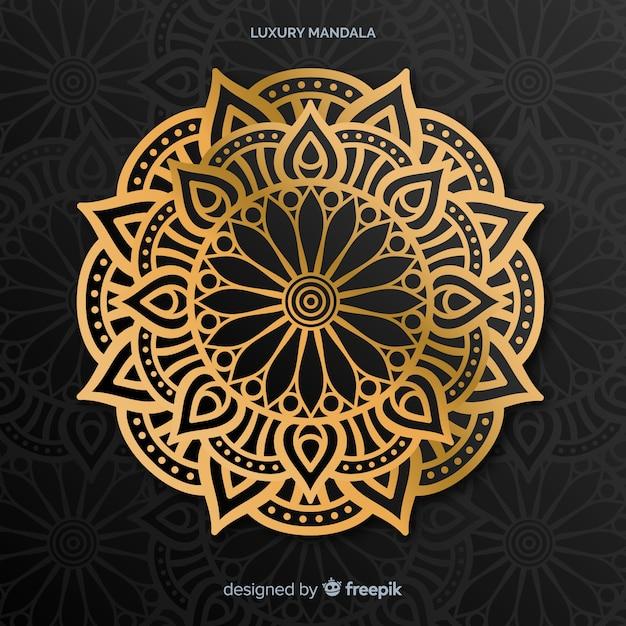 Mandala lujoso vector gratuito