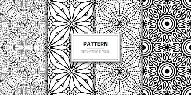 Mandala ornamental de lujo de patrones sin fisuras vector gratuito