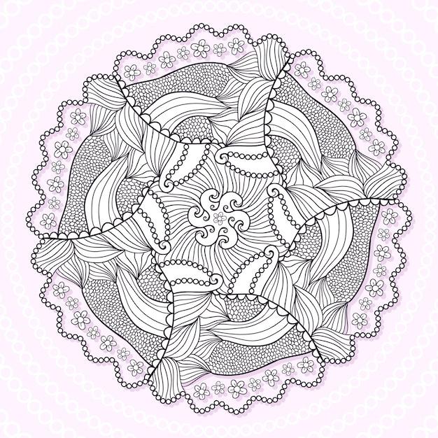 Mandala ornamental patrón de ornamento de encaje círculo. vector ...