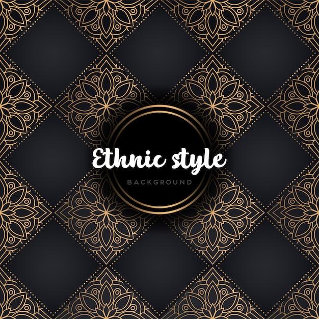 Mandala de patrones sin fisuras de lujo vector gratuito