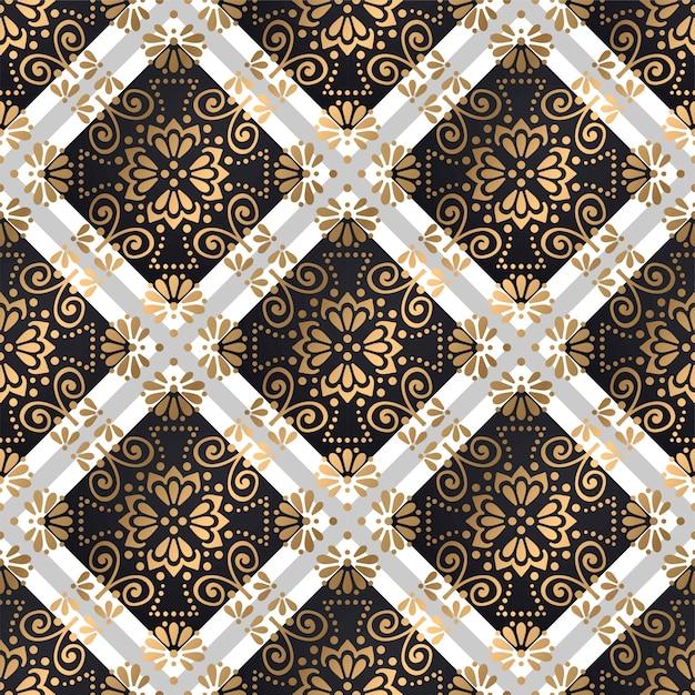 Mandalas de patrones sin fisuras vector gratuito