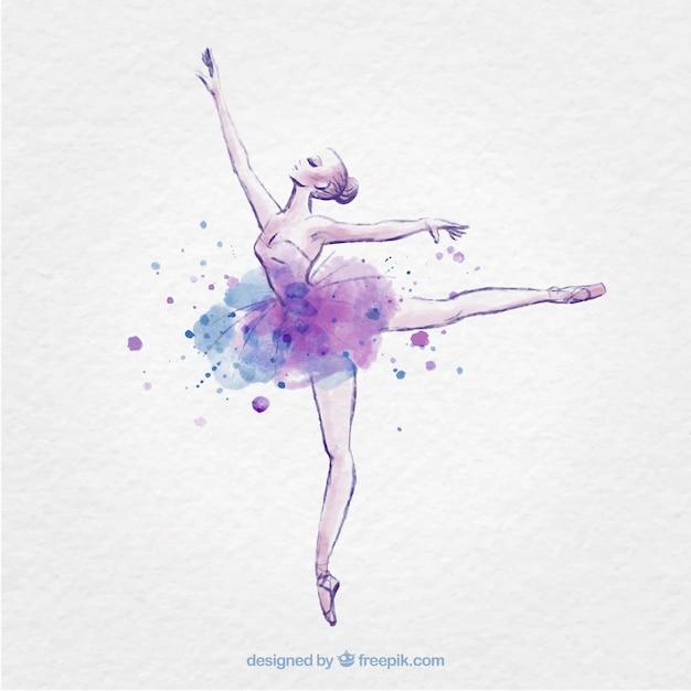 Mano Bailarina Dibujado Con Salpicaduras De Tinta Descargar