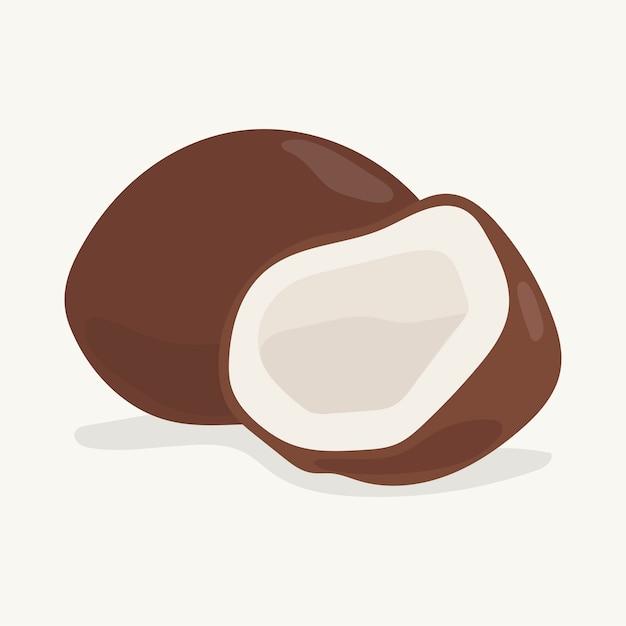 Mano dibuja la ilustración de coco colorido vector gratuito