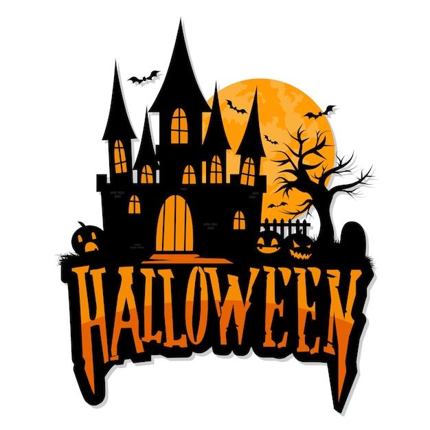 Mano dibujada vector de felicitación de halloween Vector Premium