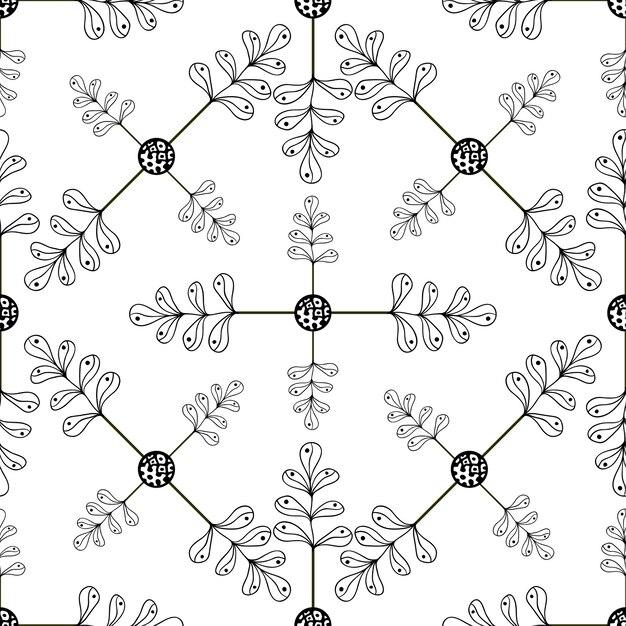 Mano ornamental dibujado hojas de fondo. patrones sin fisuras con ...