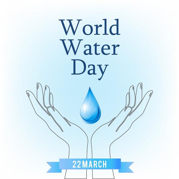 Manos Con Una Gota Día Mundial Del Agua Descargar Vectores Gratis