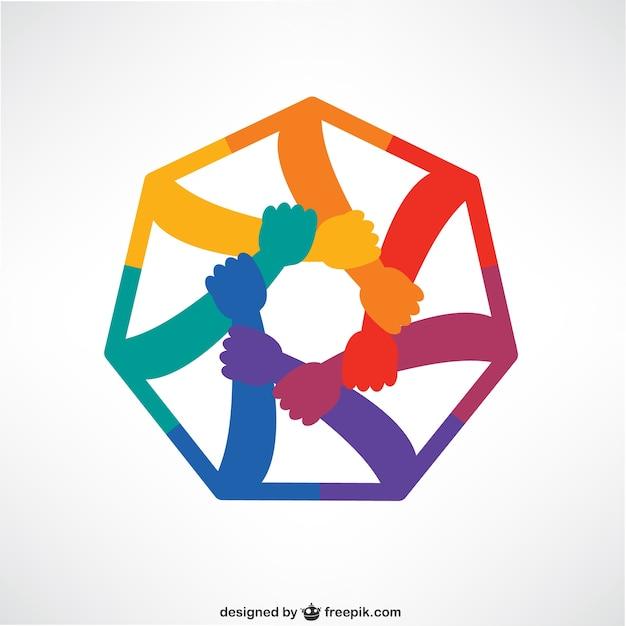 Manos que conectan logo | Vector Gratis